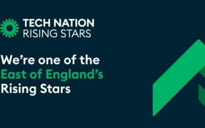 We've been chosen as a regional winner of Tech Nation's Rising Stars 3.0