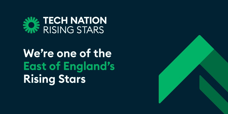 We've been chosen as a regional winner of Tech Nation's Rising Stars 3.0